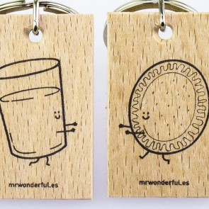 Mr Wonderful - Set de 2 llaveros