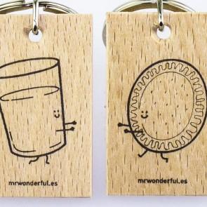 Mr Wonderful - Set de 2 llaveros