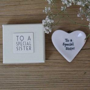 Corazón de cerámica To a Special Sister