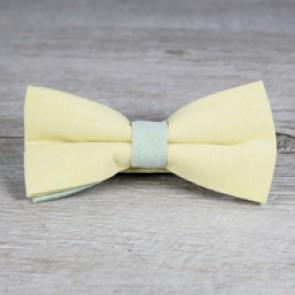 Pajarita de boda amarilla