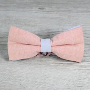 Pajarita rosa palo y azul