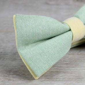Pajarita de novio verde y amarilla