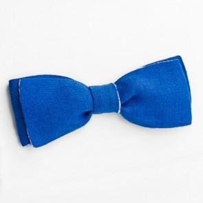 Pajarita reversible azul cuadritos vichy