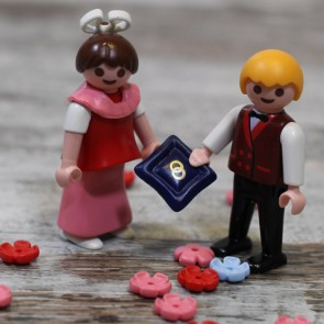 Dama de honor y paje de boda de Playmobil