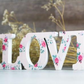 Letras madera Love con flores