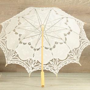 Parasol novia blanco