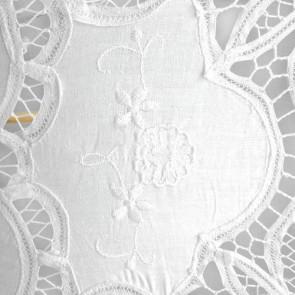 Paraguas de novia de algodón blanco