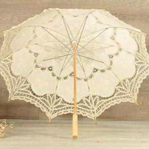 Parasol de novia beige