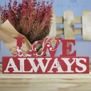 Pie de madera Love Always