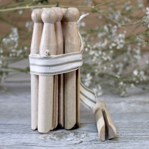 Pinzas de madera vintage (7 uds.)
