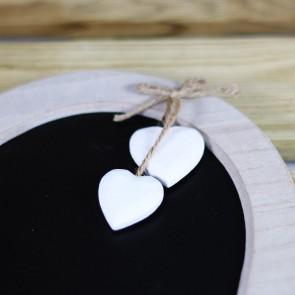 Pizarra corazon con 2 corazones