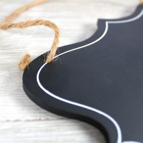 Pizarra con forma de escudo
