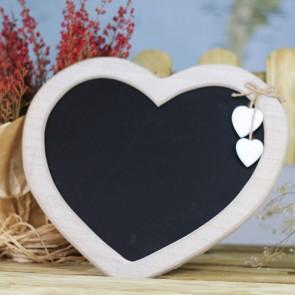 Pizarra con 2 corazones