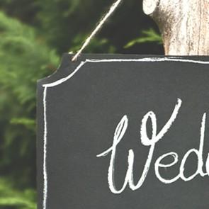 Pizarra para boda