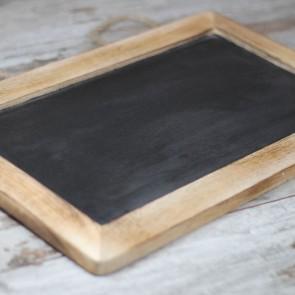 Pizarra de madera pequeña 30x23cm
