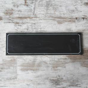 Pizarra vintage rectangular efecto gastado