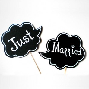 Pack de 2 pizarras Just Married