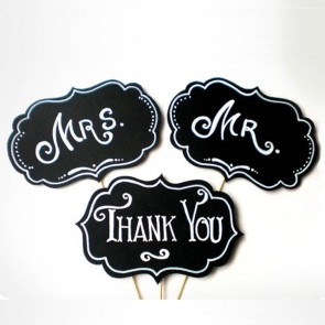 Pack de 3 pizarras Mr & Mr & Thank You