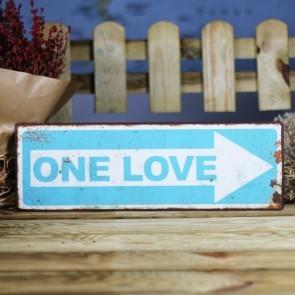 Placa de metal One Love