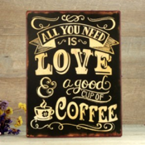 Placa love coffee