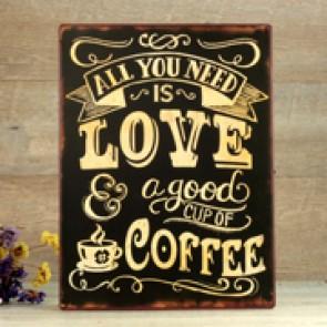 Placa love coffee
