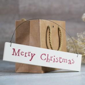 Cartel colgante Merry Christmas