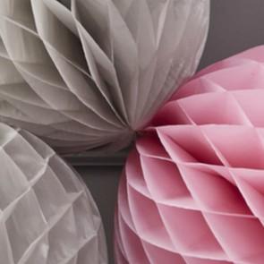 Honeycomb rosa y gris (pack de 3 ud.)