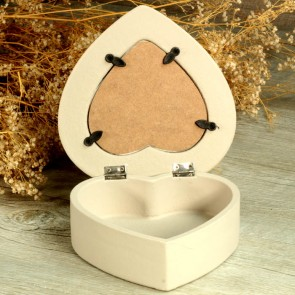 Porta alianzas de boda de madera