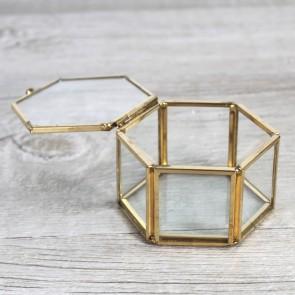Porta alianzas de cristal