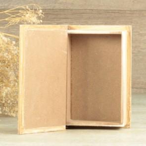 Porta alianzas libro de madera