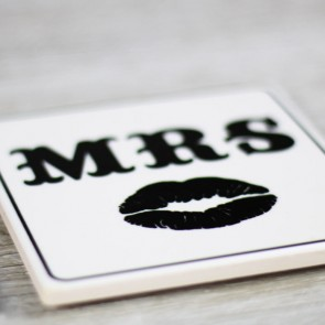 Posavasos Mr Mrs