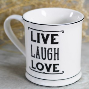 Taza Live Laugh Love