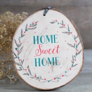 Rodaja de madera Home Sweet Home