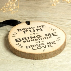 Rodajita de madera Bring me love