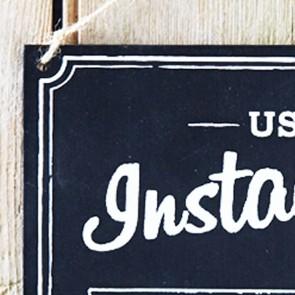 Cartel Instagram de madera