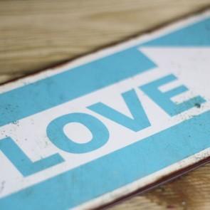 Placa de metal Señal One Love