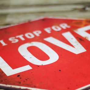 Placa de metal I Stop for Love