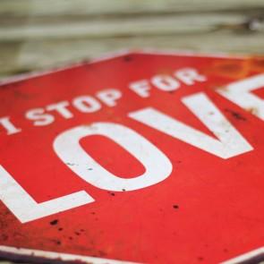 Placa de metal I Stop for Love
