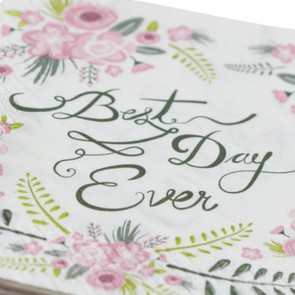 Servilletas de papel Best day ever (20 uds.)
