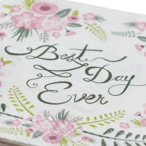 Servilletas de papel Best day ever (20 uds.)