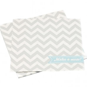 Servilletas de papel napkins chevron gris clarito (20 uds.)