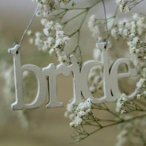 Colgante Bride crema pequeño