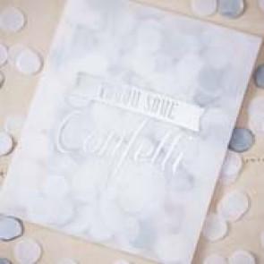 Sobres confetti plateado