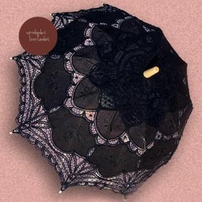 Sombrilla de novia negra