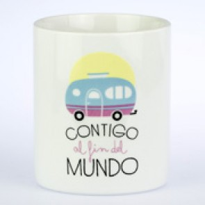 Mr Wonderful taza contigo fin del mundo
