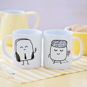 Set 2 tazas tostada y mermelada casados