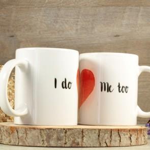 Pareja de tazas de boda