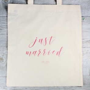 Tote bag Just Married personalizable