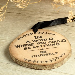 Tronquito madera con mensaje