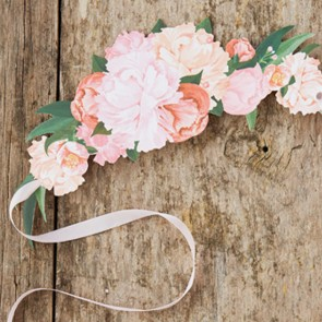 Tiara floral de papel